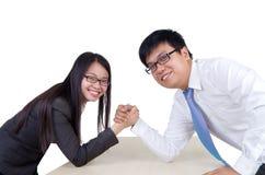 Asian business couple Stock Photo