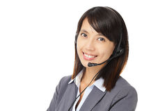 Asian business customer service woman Stock Photography