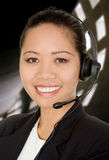 Asian business customer support Stock Images