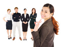 Asian business executives. Confident asian business executives on white background stock photo