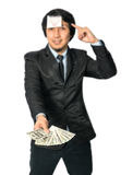 Asian Business getting the light bulb idea with earn the United Stock Photos
