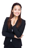 Asian business hold pen Royalty Free Stock Photo