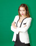 Asian business lady smart post potrait Royalty Free Stock Photos