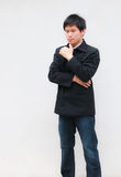 Asian business man. Young asian business man,Thinking concept Royalty Free Stock Photo