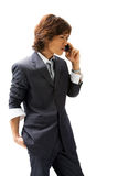 Asian Business Man And Phone Stock Photo