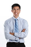 Asian business man with arms crossed. Royalty Free Stock Photo