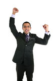 Asian business man celebrating. Royalty Free Stock Image