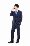 Asian business man with cellphone. Stock Image