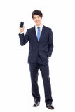 Asian business man with cellphone. Stock Photography