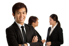 Asian Business man with colleague's in background Stock Photography