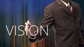 Business man with concept of vision Royalty Free Stock Images