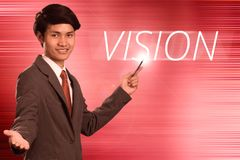 Business man with concept of vision Royalty Free Stock Photos