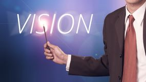 Business man with concept of vision Stock Images