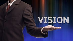 Business man with concept of vision Stock Photo