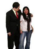 Asian Business Man With Girl F Stock Image