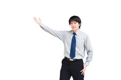 Asian business man giving presentation Royalty Free Stock Photo