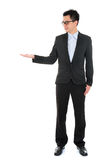 Asian business man hand showing blank empty space Royalty Free Stock Photography