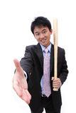 Asian Business man handshake Stock Photography