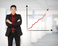 Asian business man happy Stock Image