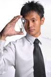Asian business man having an idea Stock Photography