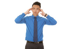 Asian business man headache Stock Image