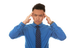 Asian business man headache Royalty Free Stock Image