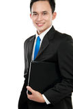 Asian business man with a laptop Royalty Free Stock Images