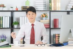 Asian business man at office stock photo