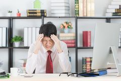 Asian business man at office stock photography