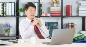 Asian business man at office royalty free stock images