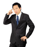 Asian business man over white Stock Image