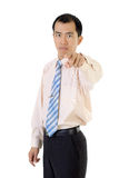 Asian business man point Royalty Free Stock Image