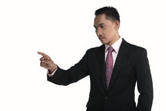 Asian business man pointing something Stock Photos