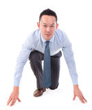 Asian business man on position to run. Stock Photography