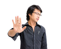 Asian business man say no Royalty Free Stock Photos