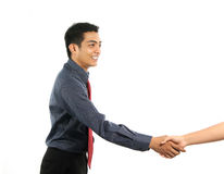 Asian business man shaking hand Royalty Free Stock Photography
