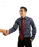 Asian business man shaking hand Royalty Free Stock Photos