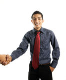 Asian business man shaking hand Stock Image