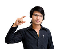 Asian business man showing namecard Royalty Free Stock Photo