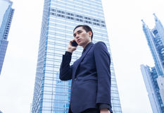 Asian business Man with Smart Phone Royalty Free Stock Image