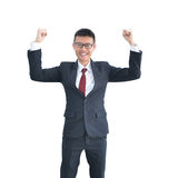 Asian Business man smiling isolated on white background, clippin Stock Photography