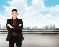 Asian business man smiling Stock Photos