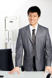 Asian business man standing Stock Photos