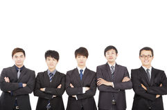 Asian business man standing together Stock Photography