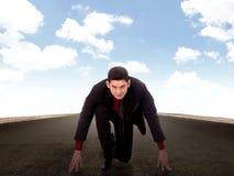 Asian business man start run Stock Photography
