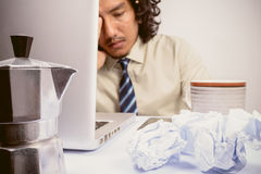 Asian Business man stressed. Business man stressed and under pressure, selective focus stock photography