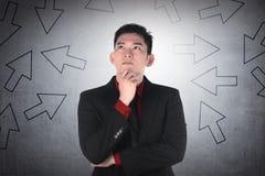 Asian business man thinking Stock Image