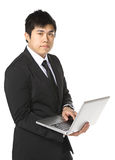 Asian business man use computer Stock Photos