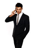 Asian Business man using cellphone Stock Photography