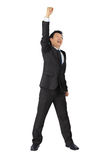 Asian business man with very exiting posture Stock Photos